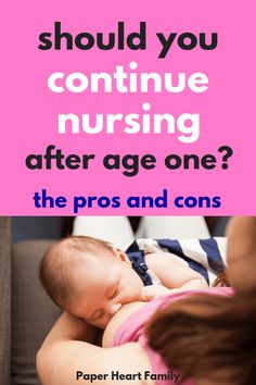 You've hit the one year breastfeeding milestone. Should you continue breastfeeding? Let baby self wean? Read these pros and cons of extended breastfeeding to help you decide. Extended Breastfeeding, Breastfeeding Tips, Breastfeeding Tattoo, Breastfeeding Positions, Breastfeeding Problems, Breastmilk Storage Bags, Baby Hacks, Baby Tips, Mom Hacks