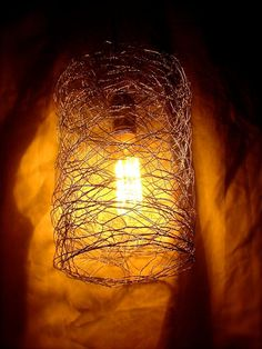 Chicken Wire lighting | chicken wire light