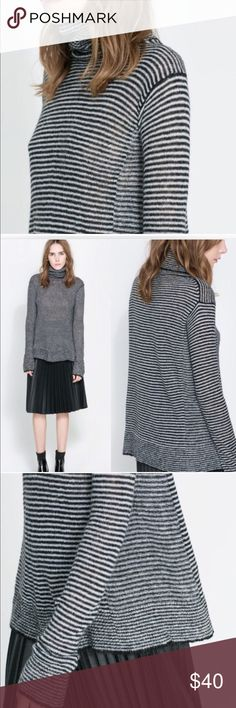 Zara striped sweater So lightweight and cozy! Excellent condition. Zara Sweaters