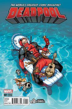 #Deadpool #Fan #Art. (Deadpool #1 Variant - Yesteryear Comics Exclusive Cover) By: Pasqual Ferry. ÅWESOMENESS!!!™ ÅÅÅ+