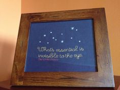Little Prince, for baby boy, homemade, cross stitch, gift