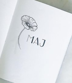 Bullet journal monthly cover page,  May cover page,  flower drawing.  | @createmore.se