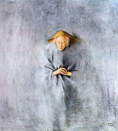 Mujer con gorro amarillo,1970 by Montserrat Gudiol