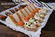 CANAPÉS FRÍOS | El jardín de mis recetas Tapas, Sushi, Appetizers, Ethnic Recipes, Ideas Decoración, Food, Queso, Recipes, Vinegar Cucumbers