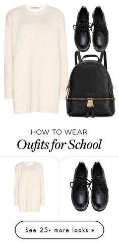 """""""school outfit"""" by meloprea on Polyvore featuring Valentino and Michael Kors"""