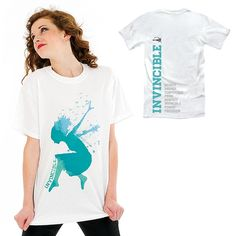 Every dancer is unique and Just For Kix recognizes that in this Invincible dance tee.