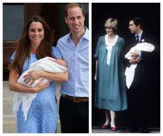 polka dots still fashionable 31 years later - Kate 2013, Diana 1982