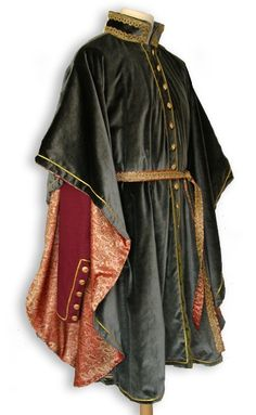 Gewandfantasien.de - medieval gardecorps Friedrich made from velvet and silk brocade