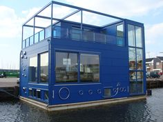 """FLOATING BED & BREAKFAST IN IJBURG: This totally unique concept of a floating Bed & Breakfast located in the futuristic Ijburg development of floating homes and floating apartments shows that people are now looking very much at thinking """"outside the box"""" and investing in interesting and unusual solutions to providing accommodation where there had previously been none."""