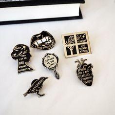Enamel Pins by Literary Emporium on Etsy See our 'enamel pins' tag