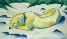 Franz Marc, Dog in the snow, 1911
