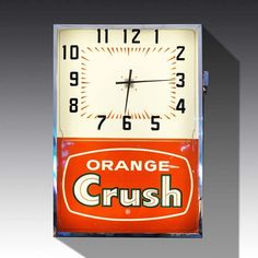 Orange Crush Wall Clock from The Games Room Company's Furniture selection Luxury Gifts For Men, Game Room Furniture, Orange Crush, Furniture Companies, Bobs, Clocks, Colorful Backgrounds, Crushes, Nostalgia
