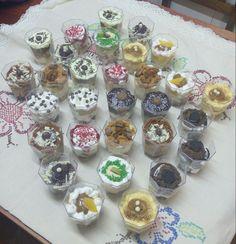 Minitortas en vasos
