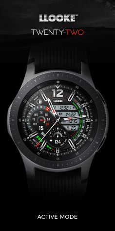 LLOOKE Twenty-two Pro Watchface designed for Samsung Galaxy watch Gucci Watches For Men, Luxury Watches, Fashion Watches, Cool Watches, Seiko Mod, Seiko Watches, Watch Faces, Sport Watches, Smartwatch