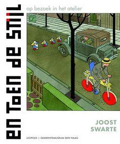 """Cover with Piet Mondriaan from """"En Toen De Stijl"""" by Joost Swarte"""