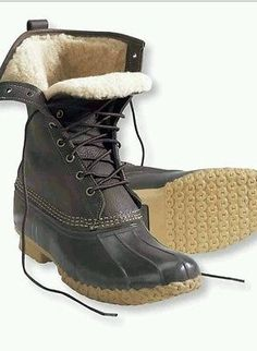 """Checkout my Ebay item for sale!  Womens Bean Boots By LL Bean-10""""- Shearling Lined-Size 8M"""