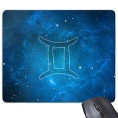 Starry Sky Night Gemini Zodiac Constellation Sign Mouse Pad