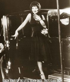 Downton Abbey Era - screen-debut-of-the-little-black-dress-1927-clara-bow