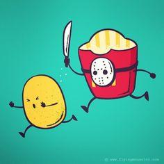 French Fried Jason #jasonvoorhees#movie#horror#fastfood#potato#chowhonlam#flyingmouse365#murder