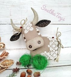 Fabric Toys, Bunny Plush, Toy Organization, Felt Toys, Softies, Textiles, Symbols, Christmas Ornaments, Cattle