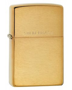 Zippo Brushed Brass Lighter - Brushed Brass Finish - Flint Windproof Lighter - Signature Zippo Click - Made in the USA - Zippo Lifetime Guarantee This zippo lighter ships without fuel inside it as per