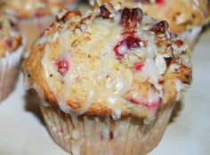 My husband seems to think these muffins have a fruity pebbles flavor. I must say…the tart cranberries pair up nicely with the orange glaze. Cranberry Orange Muffins, Cranberry Recipes, Orange Recipes, Just Desserts, Dessert Recipes, Muffin Tin Recipes, Bread Recipes, Cake Recipes, Cupcakes