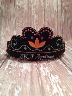 """NorwegianPrincessHeadband Tiara Embroidery Design 5x7 (2.31x5.94"""" 2558 Stitches (5/8 Size)) 4x4 (3.91x3.89"""" 2341Stitches (5/8 Size)) These cute tiaras are made with the option of 3 different si..."""
