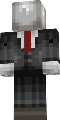 minecraft skin: slender man