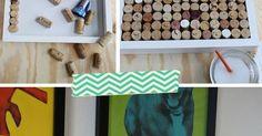 Nunca sabemos que hacer con los corchos y esta idea nos permite reciclar un montó...