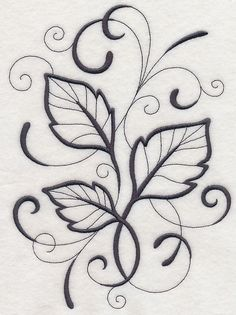 An inky leaf is a fabulous light-stitching addition to a wide variety of embroidery projects. stitch on fall apparel, tote bags, and quilts. Embroidery Sampler, Embroidery Fabric, Embroidery Fonts, Machine Embroidery Designs, Embroidery Patterns, Easy Flower Drawings, Painting Templates, Painted Rocks Kids, Floral Drawing