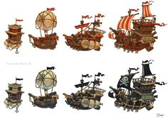 Pirates ships by Sidxartxa.deviantart.com on @deviantART