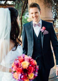 16 Groom walking smiling towards bride #wedding #photography #butleighwootton #weddingphotography