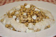 Soia gialla e primosale con salsa di noci e aglio