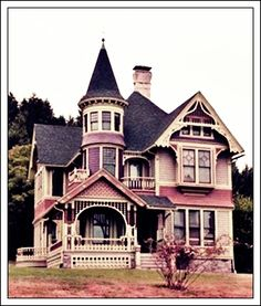 teatimeinwonderlandd:  Victorian Style Home :Beautiful; Elegant; Cozy . I want one . I want Colors like teal; Purple; Green; Black . Many true Victorian homes encompass all different colors.