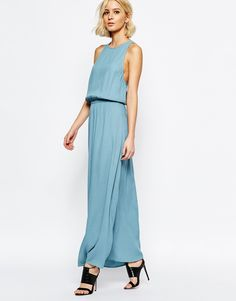 Image 4 of Just Female Rio Maxi Dress in Smoke Blue