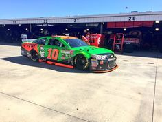 Danica leaves the garage for Sprint Cup series practice for the Goody's Headache Relief Shot 500 at Martinsville Speedway, 10/30/15.