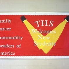 FCCLA bulletin board for Topsail High School