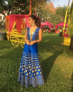 Electric blue jumpsuit embellished with laser cut acrylics! #outfit #outfitinspo #weddingoutfit #outfitgoals #indianwedding #celebritywedding #KiaraAdvani #weddings #sequins #jumpsuit #indianweddingfashion #indianweddingstyle #weddingdressideas #weddinglook #desicouture #indiancouture #indiandesigner #blouse #ethnicwear #bridesmaidoutfit #shaadisaga