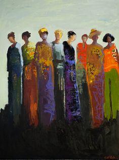 "Saatchi Art Artist Shelby McQuilkin; Painting, ""Sisterhood"" #art"