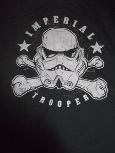 Imperial Trooper Darth Vader Black Star Wars XL Extra Large Adult Shirt Space #StarWars #GraphicTee