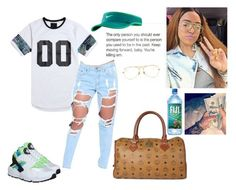"""""""Yfm"""" by nyla2trensetter ❤ liked on Polyvore featuring On The Byas, NIKE, MCM, Ray-Ban and OutfitsByNyla"""