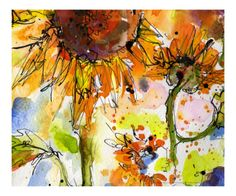 Abstract Modern Sunflower Painting by The New Monet - Giclee Print at Art.com