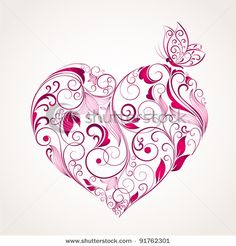 Floral patterns with butterflies Vector Illustration -