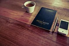 Free Old Leather Notepad Mockup (50.3 MB) | Graphic Twister