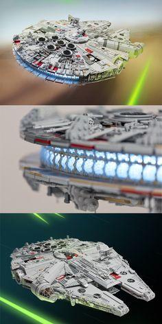 1 Star Wars Fan Spent a Year Building This INSANE Lego Millennium Falcon #starwars