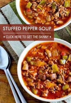 Stuffed Pepper soup.  This was so good and easy.  Everyone loved it.
