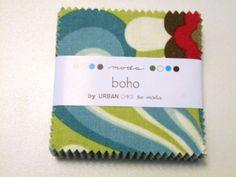 Current bid ONLY $2.25 - ENDS IN 1 HOUR!!!!! #Boho #Moda #MiniCharms #MiniCharmPack #QuiltShopFabrics #BohoFabric #FloralFabric #CottonFabric BOHO * Moda * Mini Charm Pack * 42 Squares * Precut Fabrics * Mini Charms