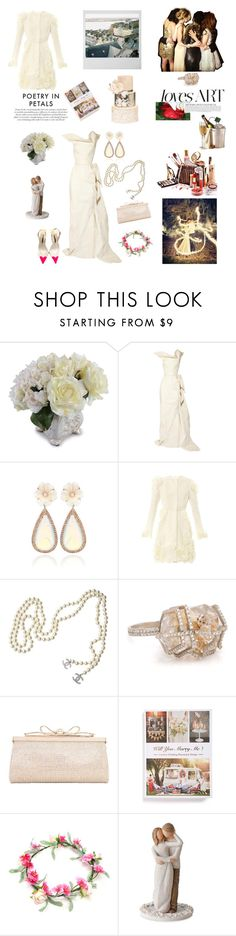 """""""Wedding Season!!!"""" by kitty1126 ❤ liked on Polyvore featuring New Growth Designs, Roland Mouret, NSR Nina Runsdorf, Giambattista Valli, Chanel, Judith Leiber, Gingko Press, Willow Tree and Sophia Webster"""