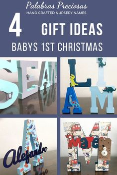 Celebrate your little one's first Christmas with a truly personal gift. These wood letter name signs are designed especially for you. Chat with me today about a unique design that reflects your little one's personality #firstchristmas #babychristmasgifts #babygifts #newmomgifts #newmom #momtobe #palabraspreciosas