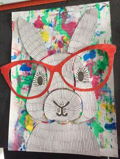 April Art Projects For Kids Easter Bunny 54 Ideas School Art Projects, Projects For Kids, Crafts For Kids, Arts And Crafts, Easter Art, Easter Crafts, Easter Bunny, Lapin Art, 2nd Grade Art